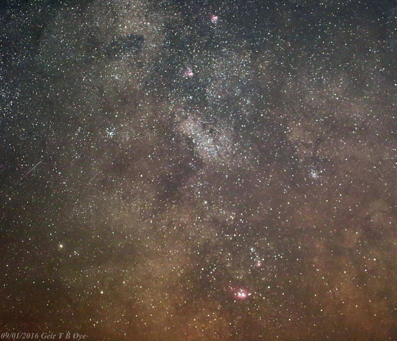 Centre of the Milky Way. Image taken on September 1,  2016.  Photo details: Canon EOS M3, Sigma 50 - 500 mm lens, ISO: 3200, exposure: 151 seconds.